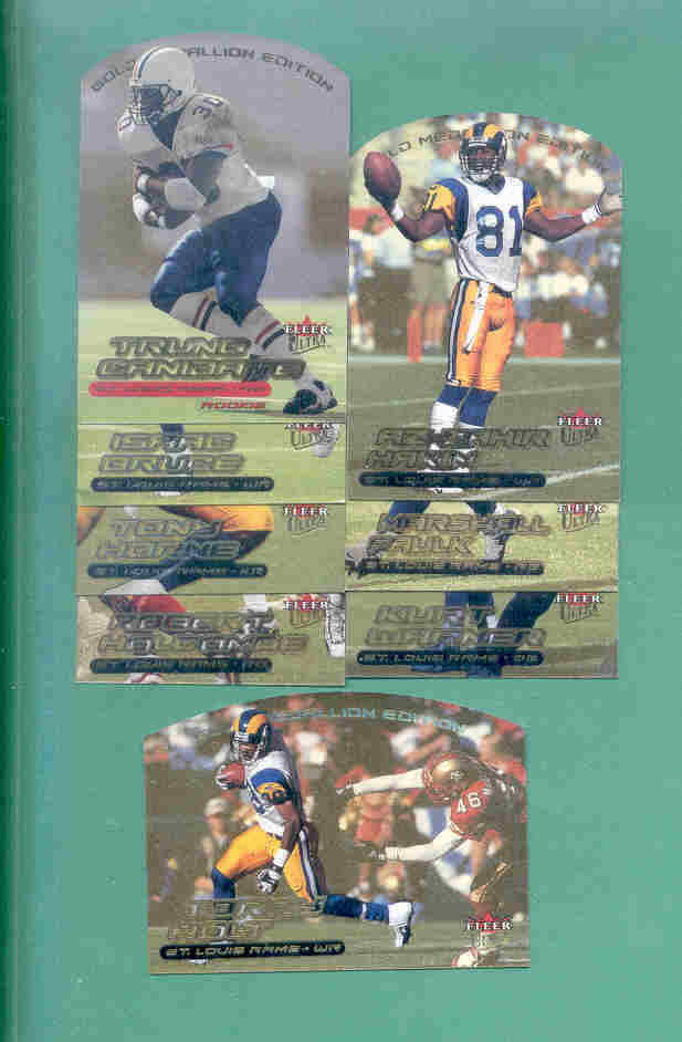 2000 Ultra Gold Medallion St Louis Rams Football Team Set