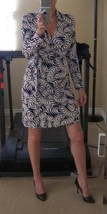 DIANE von FURSTENBERG New Jeanne Wrap Zebra Swirl Print US 10 - UK 14 - $249.99