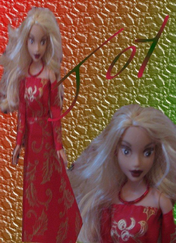Fashion Doll Joy OOAK Christmas Barbie
