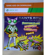"Saints Row III 3 The Third ""Professor Genki Hyper Pack"" DLC xbox 360 gam... - $3.99"
