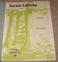 Forest Lullaby Sheet Music - 1963 - Henry Volz - Piano Solo - $7.99