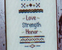 American Sampler cross stitch chart Brown House Studio