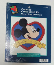 I LOVE MICKEY MOUSE (Medallion) Counted Cross Stitch Kit 36002 Disney Un... - $11.99