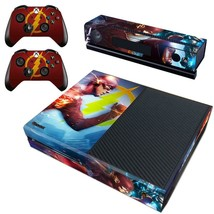 Regular Xbox One Console Vinyl Decals Wrap Stickers Skin DC Comic The Flash Hero - $12.38