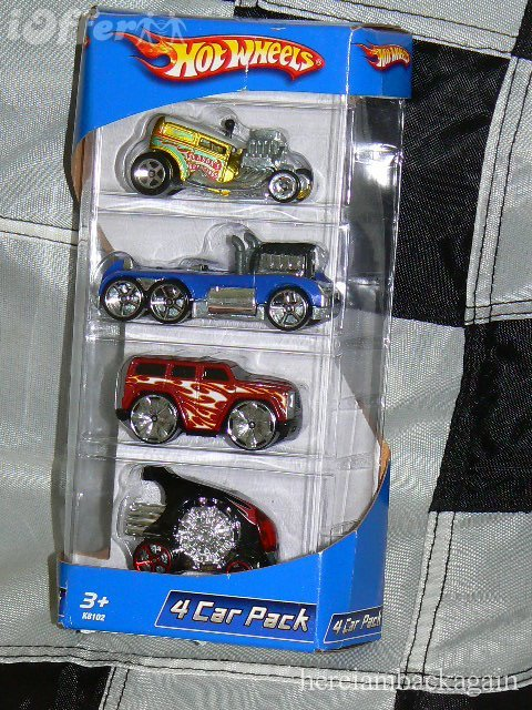 Hot Wheels 2006 4 Car Pak Set