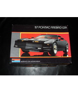 1987 Monogram Model Kit 87 Pontiac Firebird GTA 1/24 Scale - $17.99