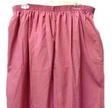 Scrub Pants P.R.N 1067 Elastic Waist Uniform 5XL Geranium Pink Bottom New - $19.37