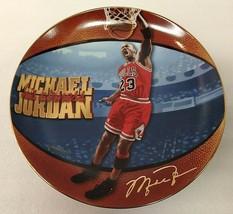 "Michael Jordan ""6 Time Nba Finals Mvp"" Plate Bradford Exchange Upper Deck Nba - $11.87"