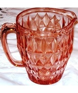 Pink  Depression Glass Jug Pitcher Windsor - $29.99