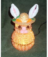 Easter Bunny Accent Night Light Lamp Beaded Han... - $9.99