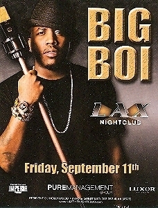 Primary image for Big Boi Vegas Promo Card