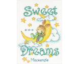 Sweet Dreams Birth Record baby counted cross stitch kit Dimensions