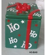 Ho Ho Ho Holiday Christmas Present Cookie Jar - $12.00