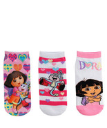 DORA EXPLORER & BOOTS 3-Pack Girls Low Cut Ankle Socks NWT Kids Ages 1-4... - $8.39
