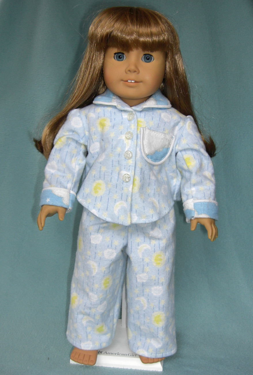 "American Girl or 18"" Doll 2-Piece Pajamas"