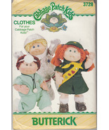 CUT Butterick 3728 Clothes for Cabbage Patch Kids Space Outfit, Doctor, Scouting - $10.40