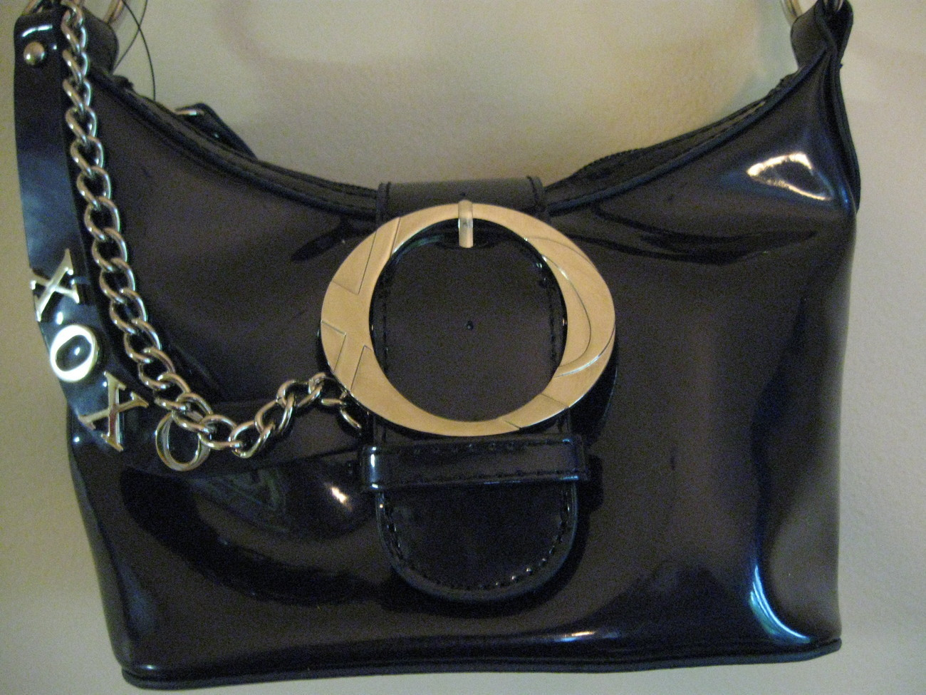 XOXO Dark Navy Blue Paten bag (NEW)