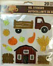 Harvest Fall Autumn GEL Sticker Window Clings ~ Pick Up Truck Barn Hay w - $5.49