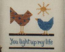 You Light Up My Life cross stitch chart Brown House Studio