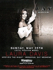 Laura Davis Hosting The Night Vegas Promo Card