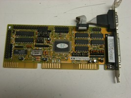Kouwell KW-556N, IDE I/O 16 bit ISA card serial parallel onboard no cables - $18.81