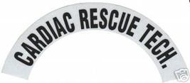 CARDIAC RESCUE TECH REFLECTIVE FIRE HELMET CRESCENT DECALS - A PAIR image 2