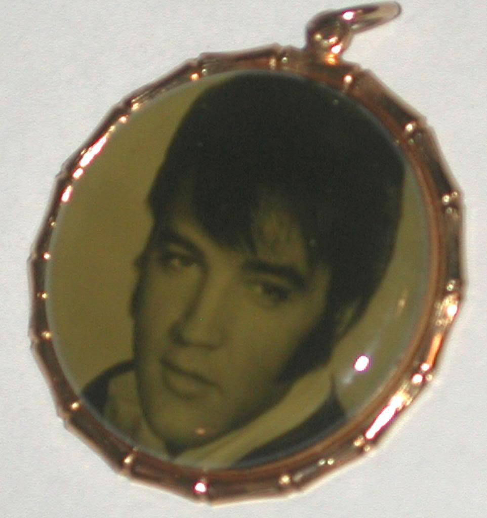 large Vintage Elvis Photo Charm Pendant Rock n Roll