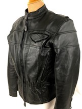 Harley Davidson Womens Small Jacket Original COMPETITION Black Leather A... - $178.70