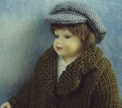 Knitted coat dressed boy newsboy cap heidi ott dollhouse 1 thumb200