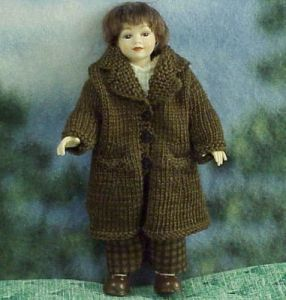 Boy Dressed Heidi Ott HOXC023 Dollhouse knit coat newsboy cap 1:12  gemjane