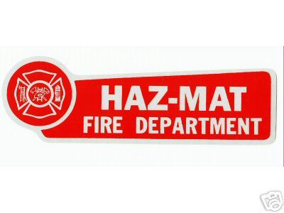 FIRE DEPARTMENT HAZ MAT Highly Reflective RED VINYL DECAL - HAZ MAT image 2