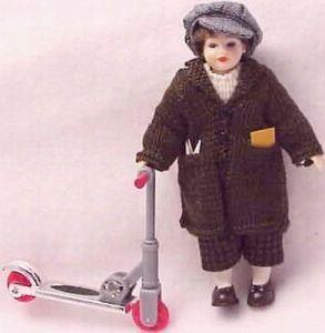 SALE Boy Dressed Heidi Ott HOXC023 Dollhouse knit coat newsboy cap Miniature