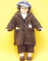 Knitted coat dressed boy newsboy cap heidi ott dollhouse 6 thumb200
