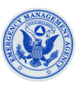 "EMERGENCY MANAGEMENT AGENCY HIGHLY REFLECTIVE DECAL 4"" CIRCLE - $7.91"