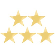 Gold Foil Star Cutouts - 5 Pack - 9 Inches - FREE SHIPPING - €6,43 EUR