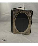 "Small Silverplate Design 5"" x 7""  Photo Album Black Velour Trim - $9.99"
