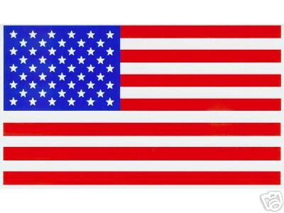 """AMERICAN FLAG VINYL DECALS - PACKAGE OF 20 -  Size: 2 1/4"""" x 4"""""""