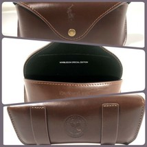 Polo Ralph Lauren Brown Leather Purple Sunglasses Case Wimbledon Special... - $98.99