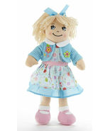 "Adorable Apple Dumplin' Cloth 14"" Doll by Delton - Blue Floral Dress - €24,46 EUR"