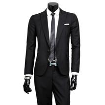 (Jackets+Pants)  New Men Suits Slim Custom Fit Tuxedo Brand Fashion Busi... - $185.00