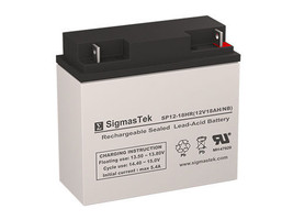 12 Volt 18 Amp Alpha Technologies 2200 Replacement battery by SigmasTek - $35.52