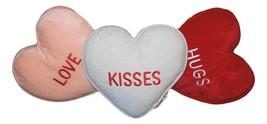 3 Pc Celebrate Valentin's Day Throw Pillows Love Hugs Kisses Nwt Free Shipping - $39.59