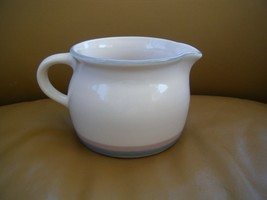 Pfaltzgraff Aura Pink Usa Blue Gray, Pink Bands - Gravy Boat Pitcher - $5.00