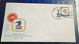 Stottville NY, 1st Day Inaugerating USPS Envelope,Jul 1 1971, 8 cent stamp - $3.95