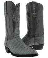 Mens Crocodile Tail Boots Genuine Western Leather Gray Cowboy Botas J Toe - $229.99