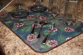 """Pinecone Microfiber Dish Drying Mat New Green 20"""" x 14.5"""" Machine Washab... - $8.90"""