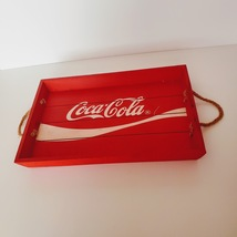 "Coca Cola wooden tray 16 ¼"" x 10 7/8"" red - $20.00"
