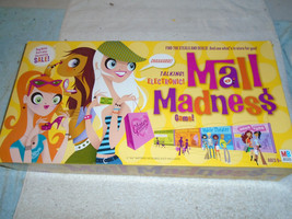 2004 MALL MADNESS TALKING ELECTRONIC BOARD GAME 100% COMPLETE - $49.99