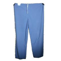 Fashion Seal Drawstring Unisex Pants Scrubs 44 X 30 Pants Blue Doctor Wear - $12.61