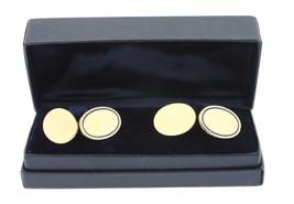 Antique Men's Tiffany & Co. 18K 750 Yellow Gold Blue Enamel Oval Cuff Links - $2,493.42